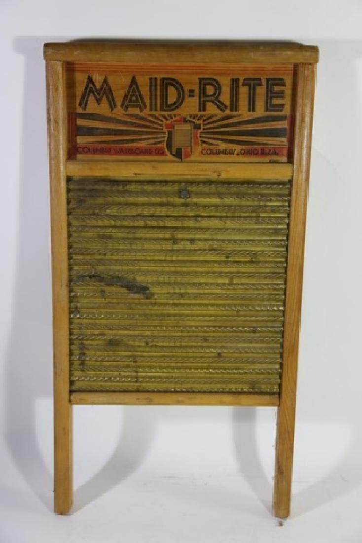 MAID RITE COLUMBUS OHIO ANTIQUE WASHBOARD - 2