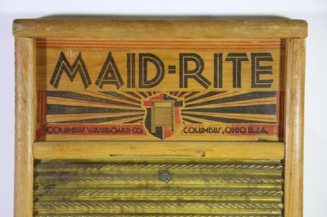 MAID RITE COLUMBUS OHIO ANTIQUE WASHBOARD - 3