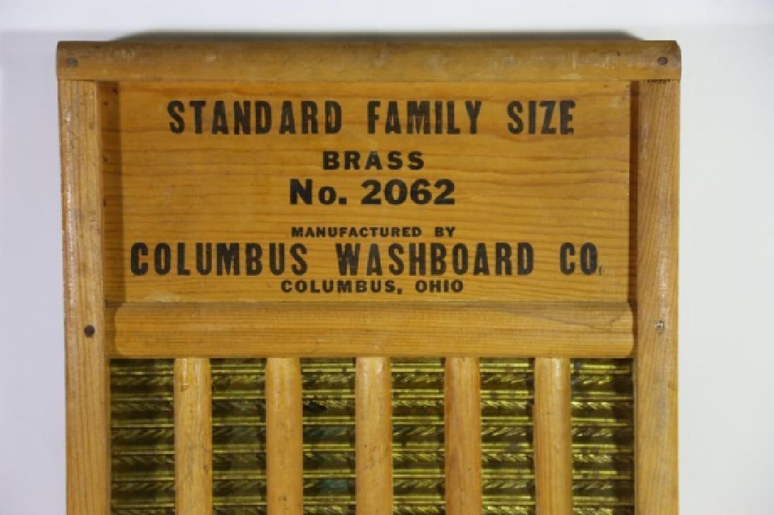 MAID RITE COLUMBUS OHIO ANTIQUE WASHBOARD - 5