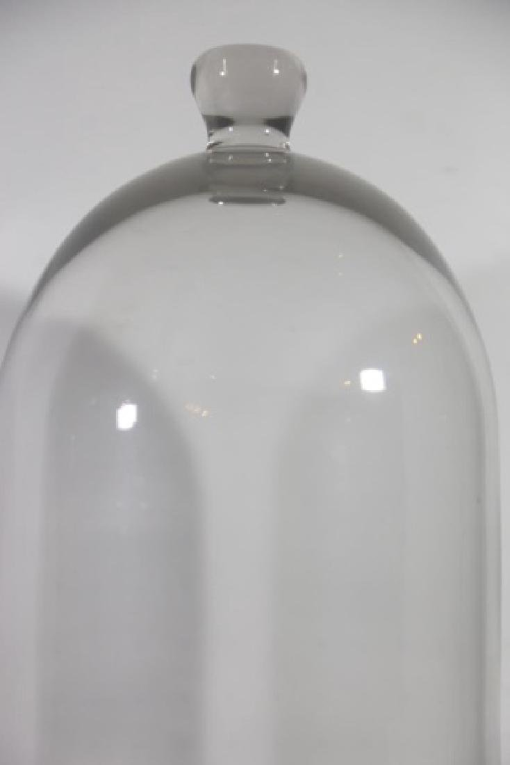 ANTIQUE GLASS DOME BELL JAR - 3