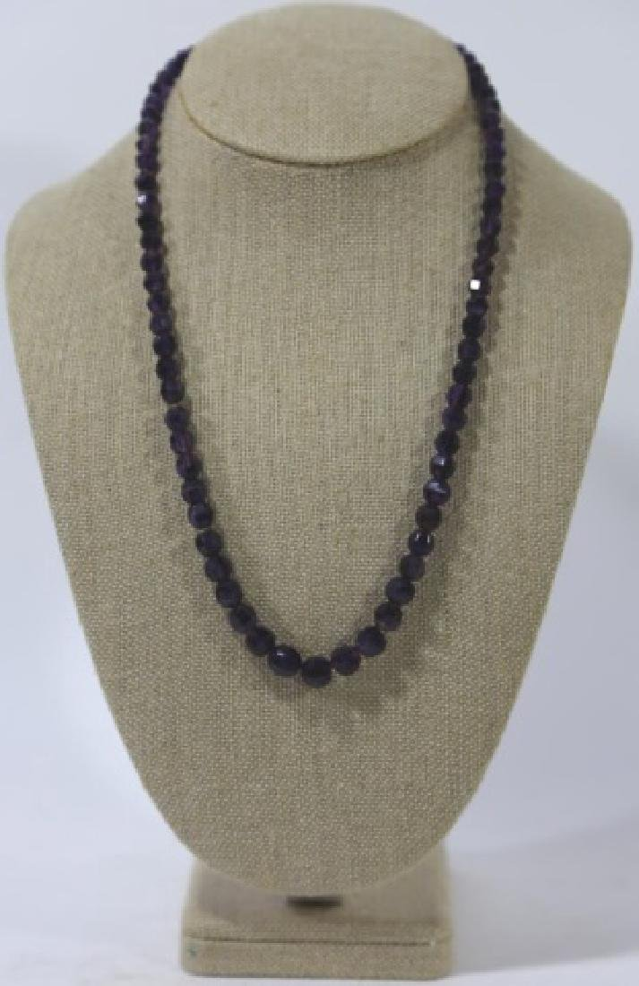 VINTAGE AMETHYST BEADED NECKLACE