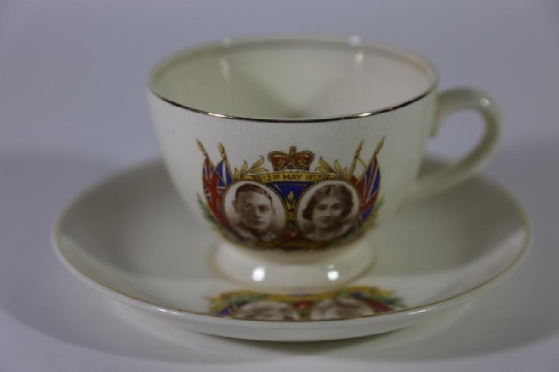 QUEEN ELIZABETH / KING GEORGE CORONATION TEA CUP - 2
