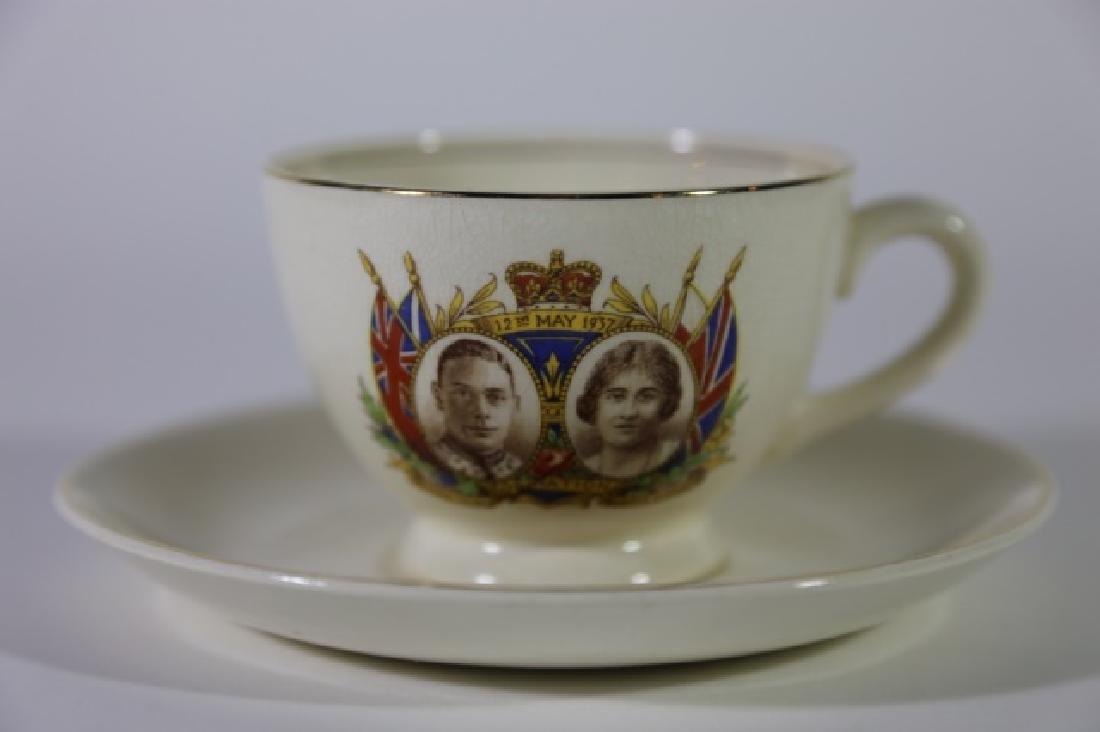 QUEEN ELIZABETH / KING GEORGE CORONATION TEA CUP - 4