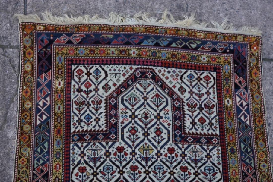 ANTIQUE PERSIAN HAND WOVEN PRAYER RUG - 6