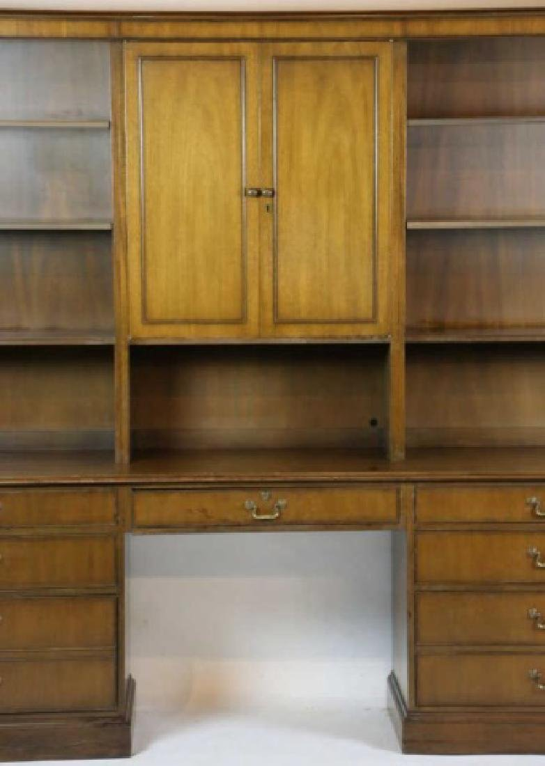 KITTINGER MID CENTURY PALATIAL  BOOKCASE DESK - 4