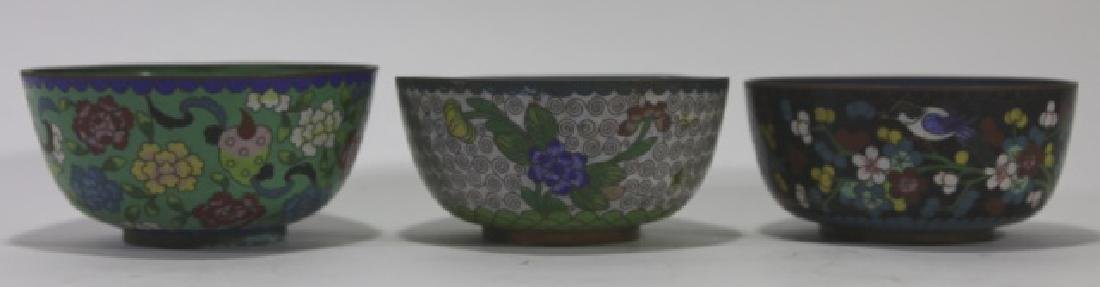 CHINESE CLOISONNE CUP GROUPING