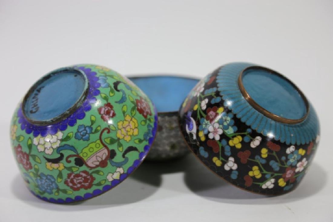 CHINESE CLOISONNE CUP GROUPING - 2