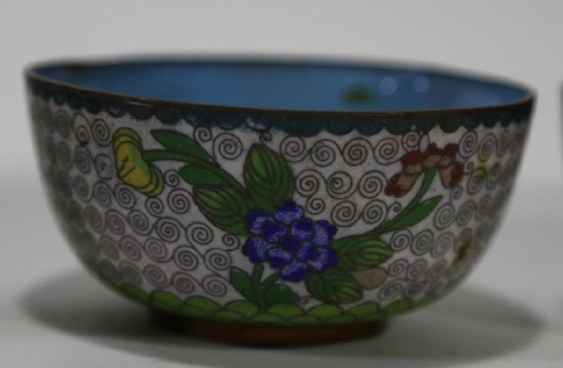 CHINESE CLOISONNE CUP GROUPING - 3