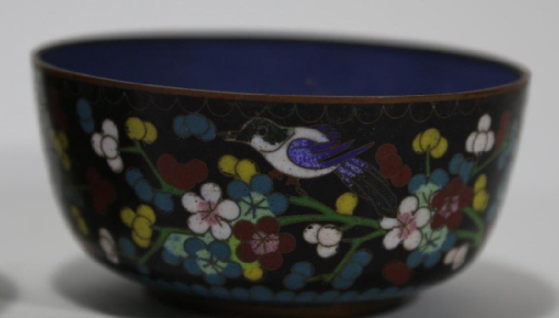 CHINESE CLOISONNE CUP GROUPING - 4