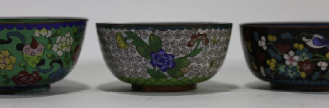 CHINESE CLOISONNE CUP GROUPING - 5