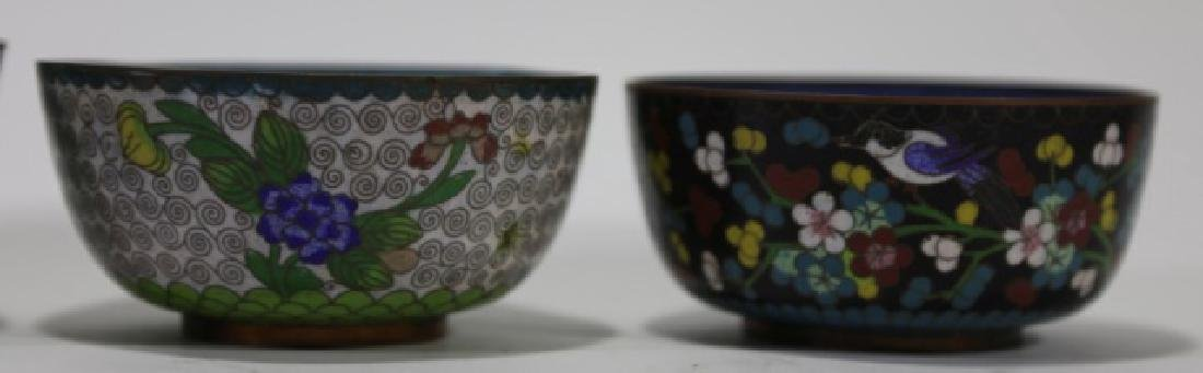 CHINESE CLOISONNE CUP GROUPING - 6