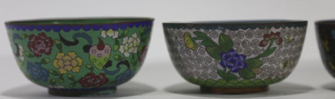 CHINESE CLOISONNE CUP GROUPING - 7