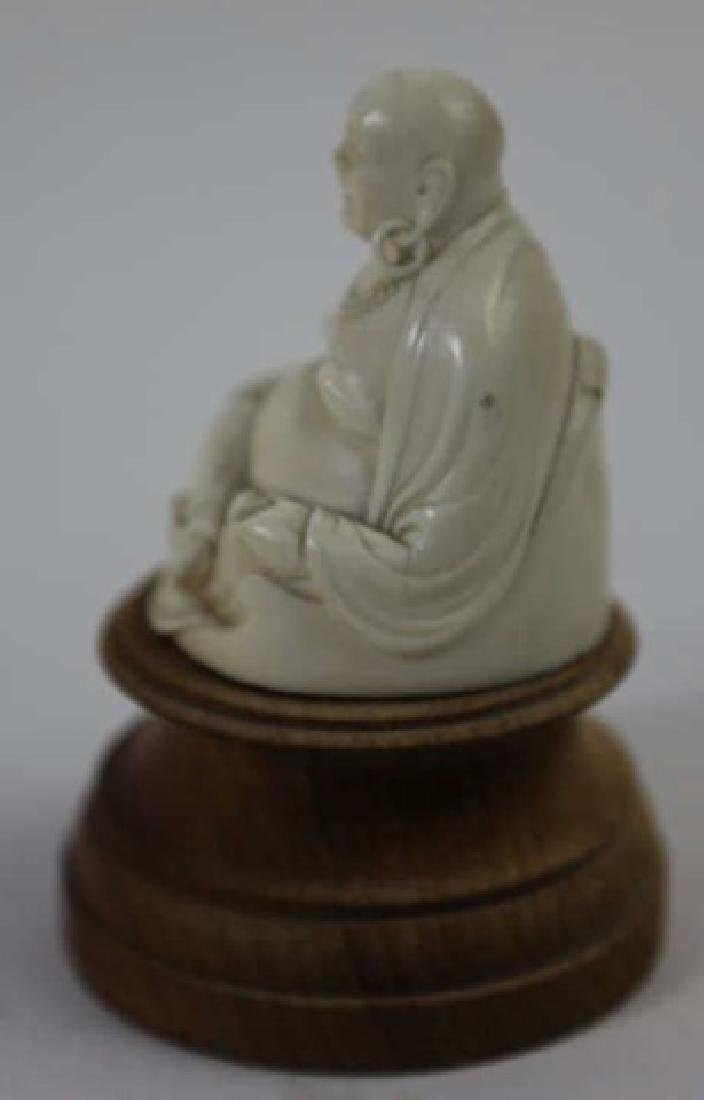 CHINESE HAND CARVED ANTIQUE HAPPY BUDDHA - 10