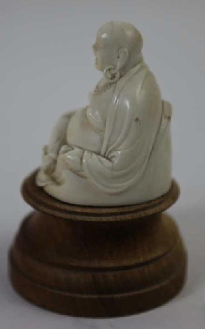 CHINESE HAND CARVED ANTIQUE HAPPY BUDDHA - 2