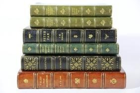 ANTIQUE LEATHER BOUND BOOK GROUPING