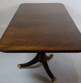 MAITLAND SMITH MAHOGANY DBL PEDESTAL DINING TABLE