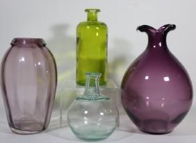 ART GLASS VASE GROUPING