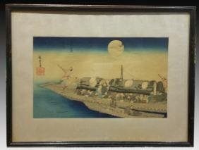 JAPANESE WOODBLOCK PAIR