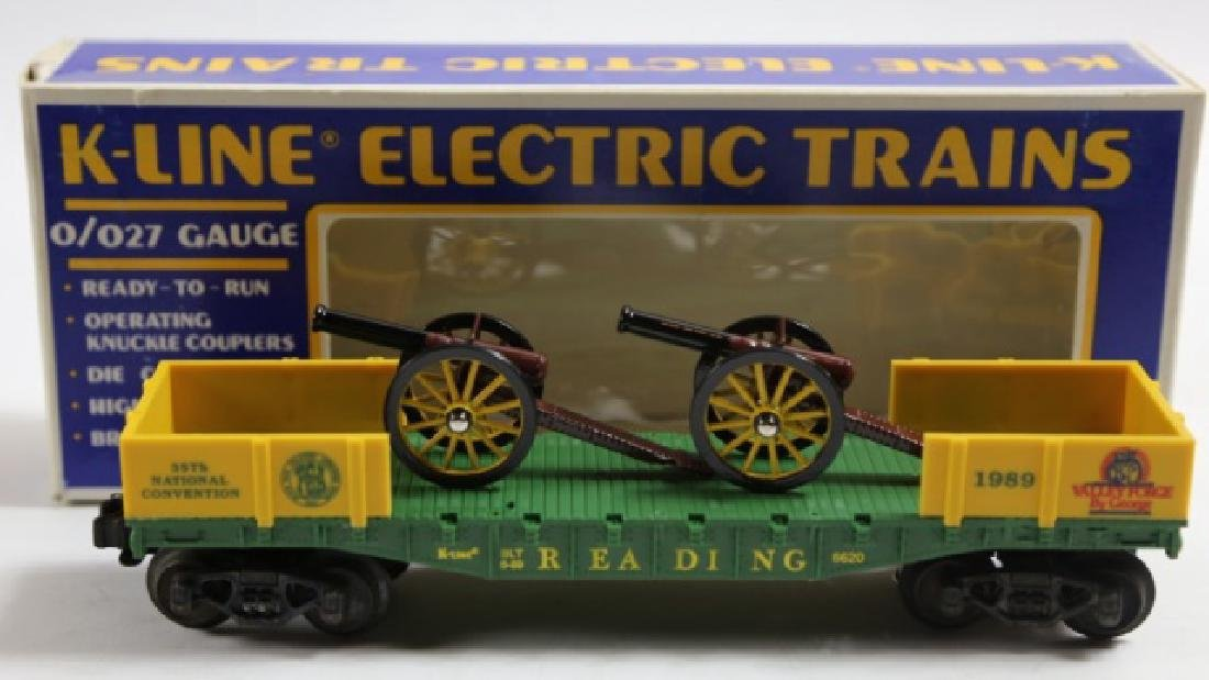 K-LINE NATIONAL CONVENTION CANNON FLAT CAR