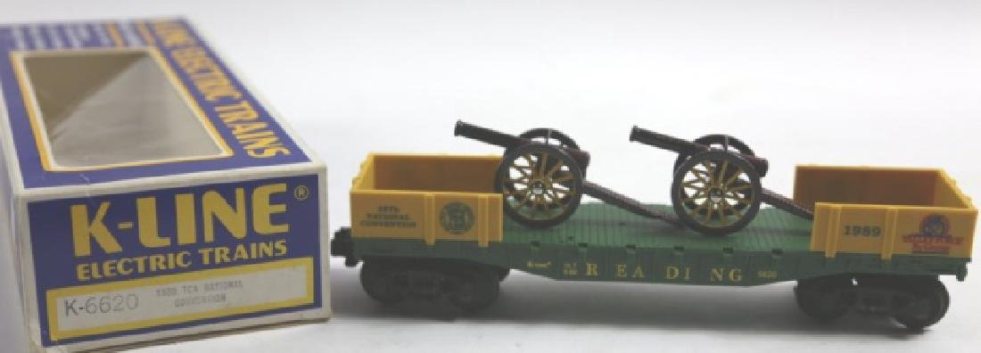 K-LINE NATIONAL CONVENTION CANNON FLAT CAR - 3