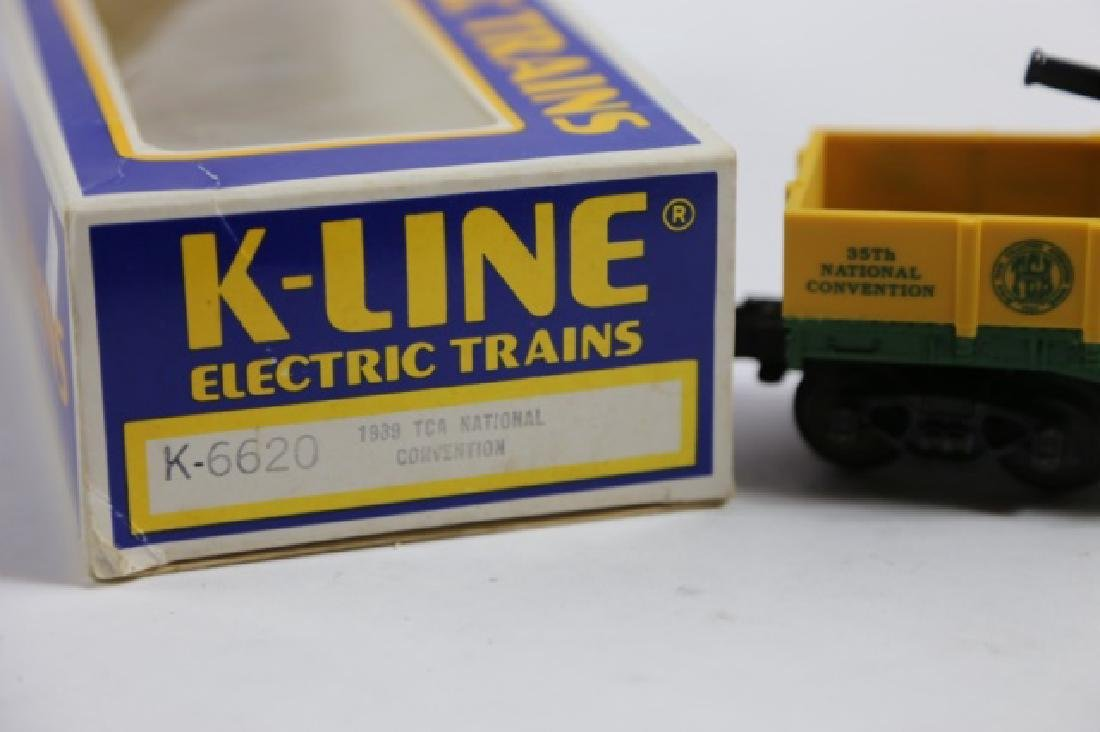K-LINE NATIONAL CONVENTION CANNON FLAT CAR - 4