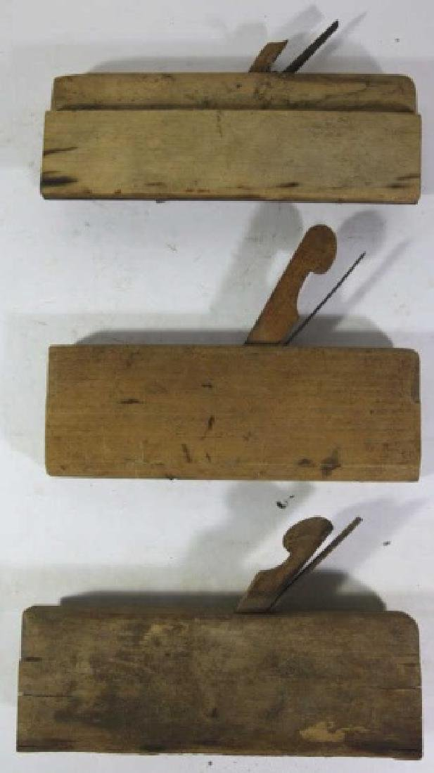 ANTIQUE WOOD PLANE GROUPING - 5