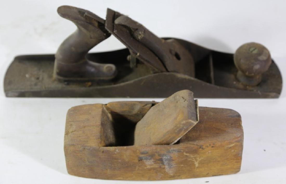 ANTIQUE WOOD PLANE GROUPING - 2