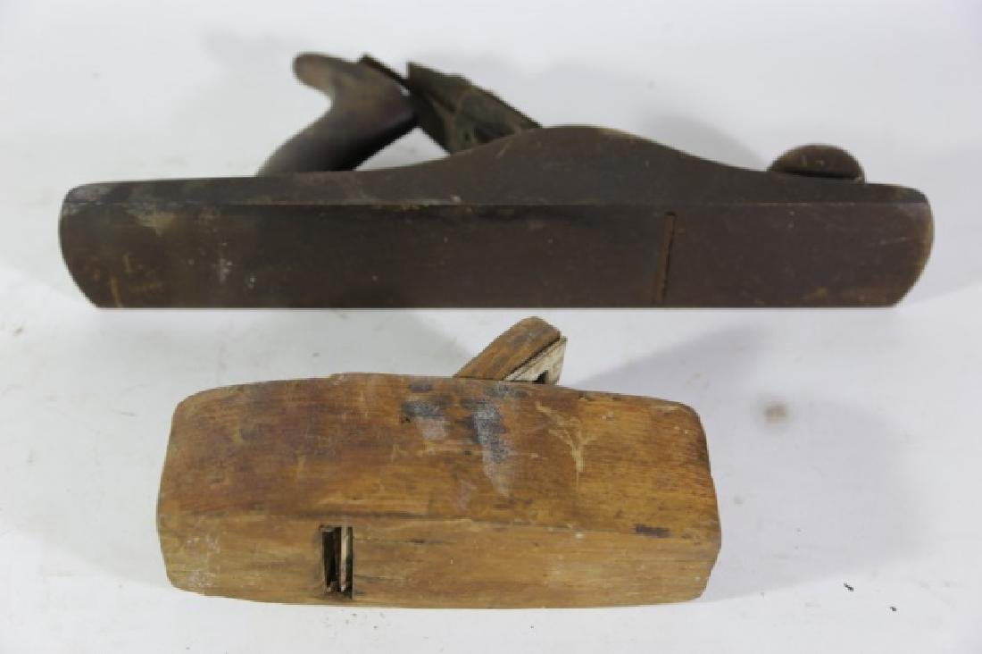 ANTIQUE WOOD PLANE GROUPING - 7