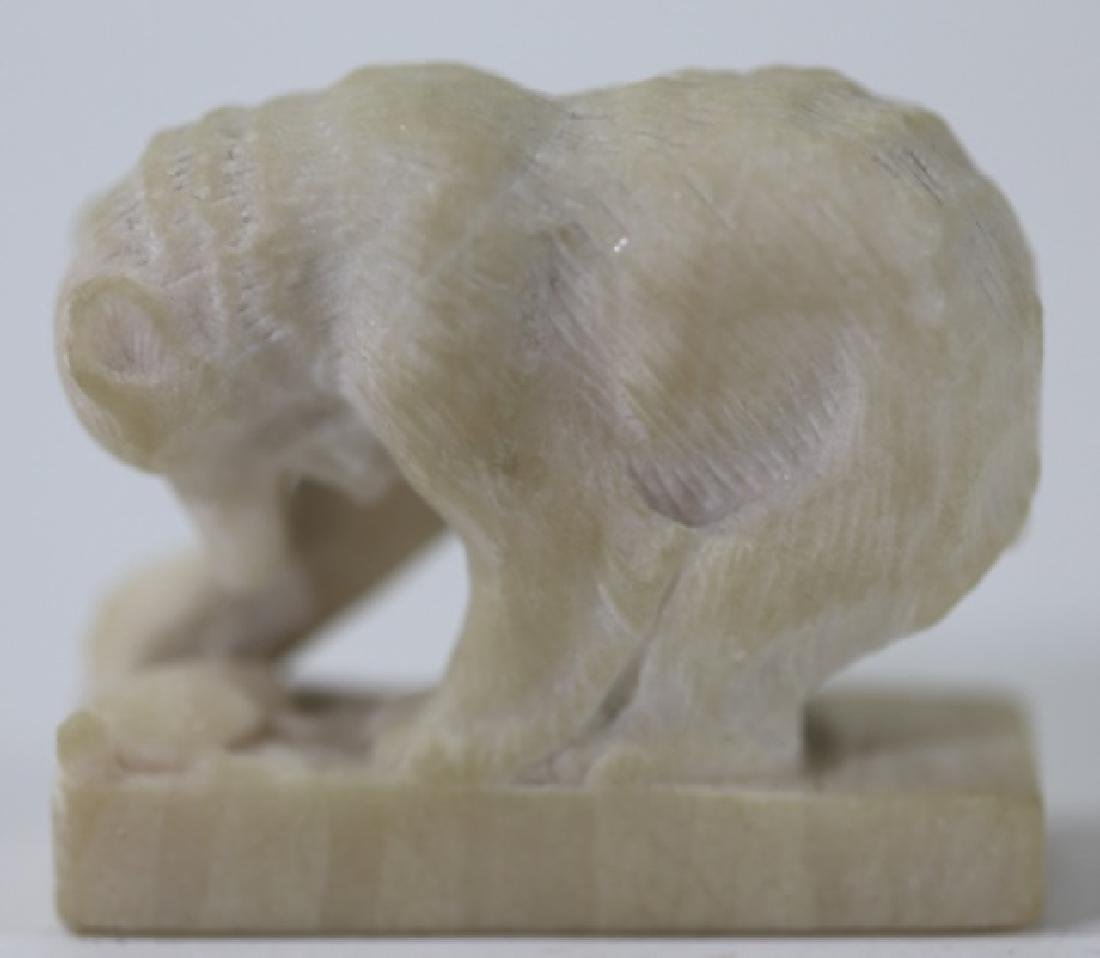 CLYDE SWITCH 1924 POLAR BEAR CARVING