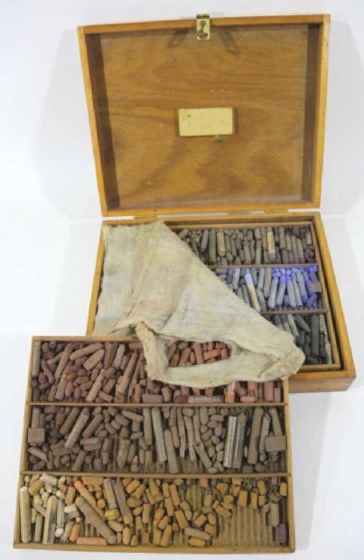 JOHN MCCLELLAND'S PERSONAL BOX OF PASTELS