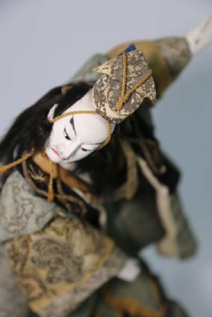 JAPANESE ANTIQUE HAND MADE DOLL IN SHADOW BOX - 10