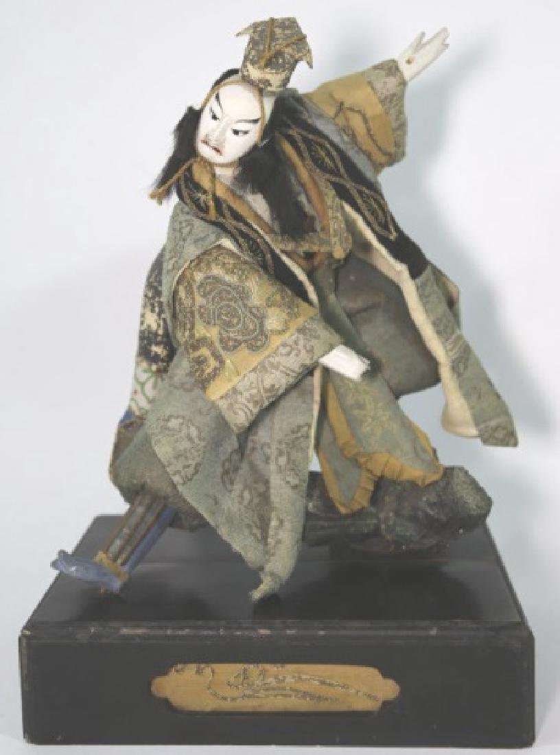 JAPANESE ANTIQUE HAND MADE DOLL IN SHADOW BOX