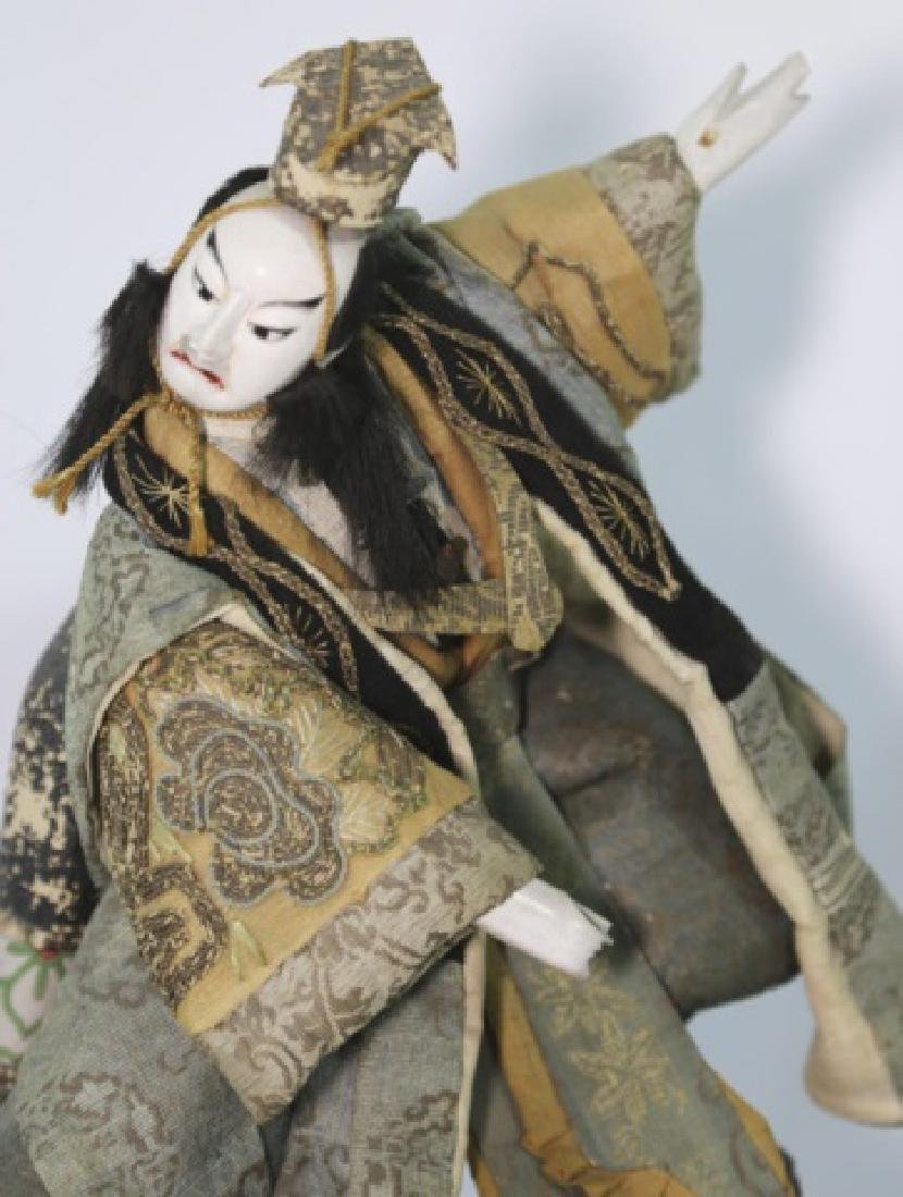 JAPANESE ANTIQUE HAND MADE DOLL IN SHADOW BOX - 2
