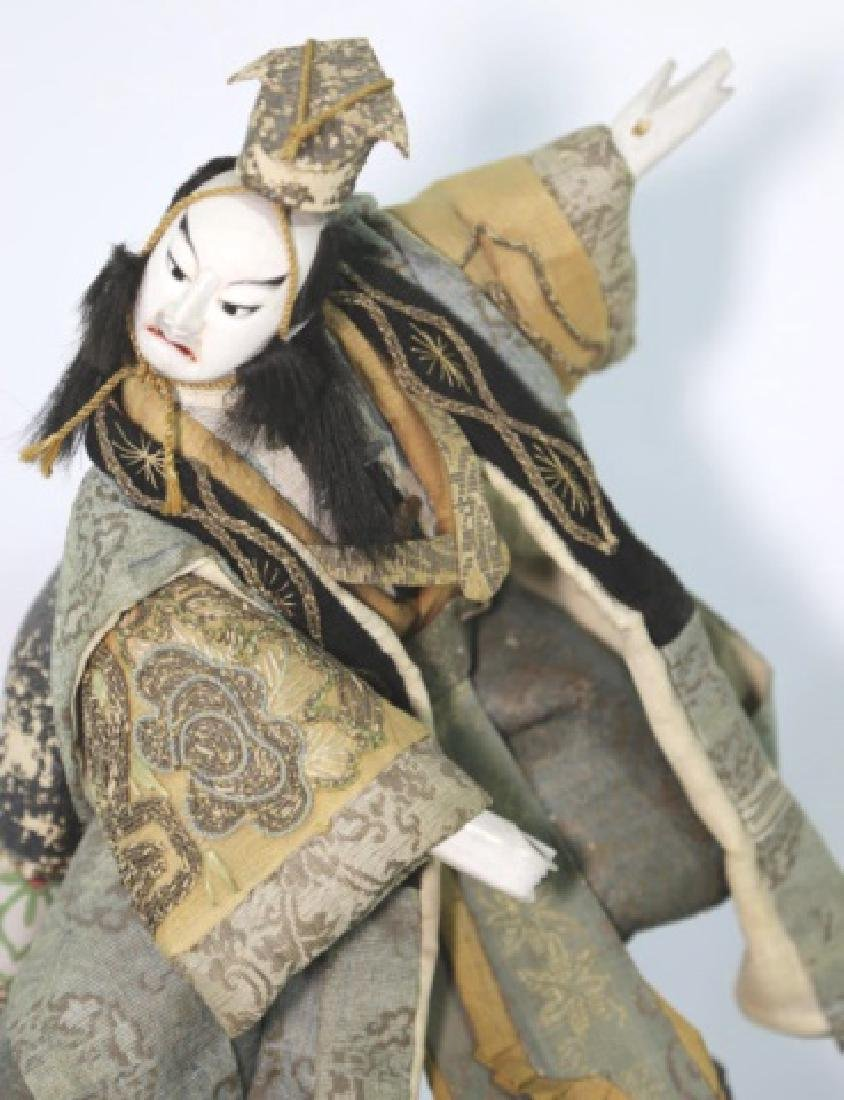 JAPANESE ANTIQUE HAND MADE DOLL IN SHADOW BOX - 3