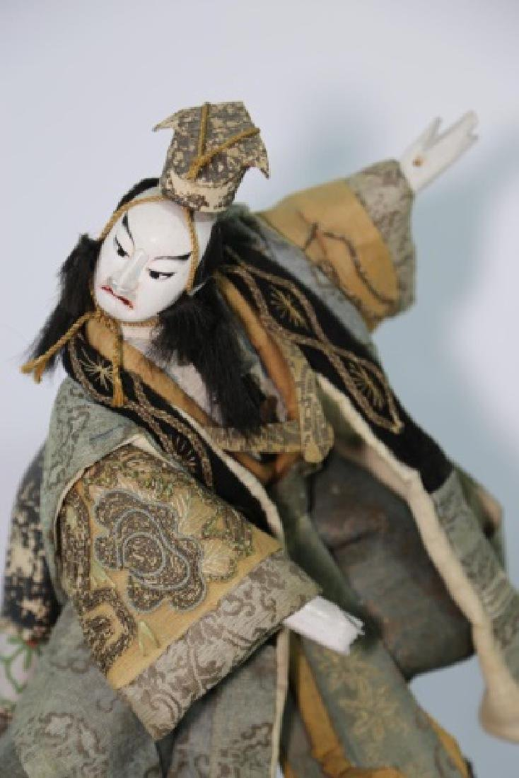 JAPANESE ANTIQUE HAND MADE DOLL IN SHADOW BOX - 4