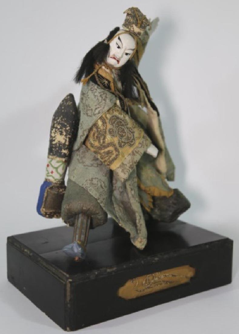 JAPANESE ANTIQUE HAND MADE DOLL IN SHADOW BOX - 5