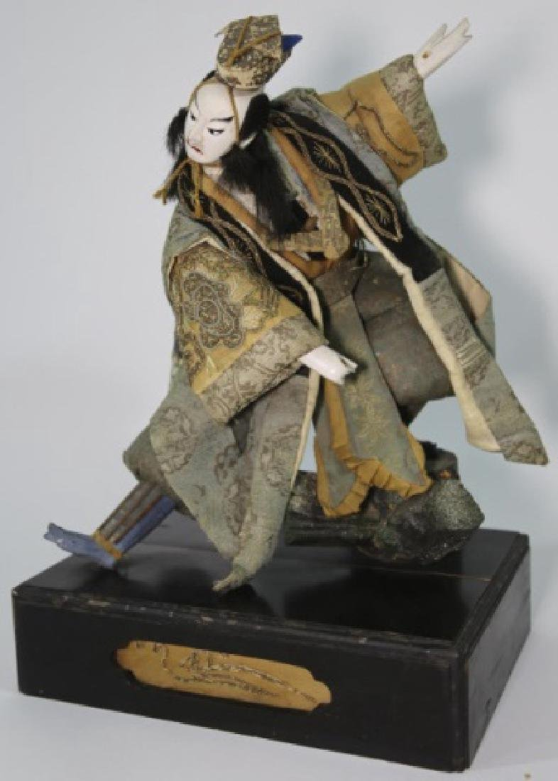 JAPANESE ANTIQUE HAND MADE DOLL IN SHADOW BOX - 9