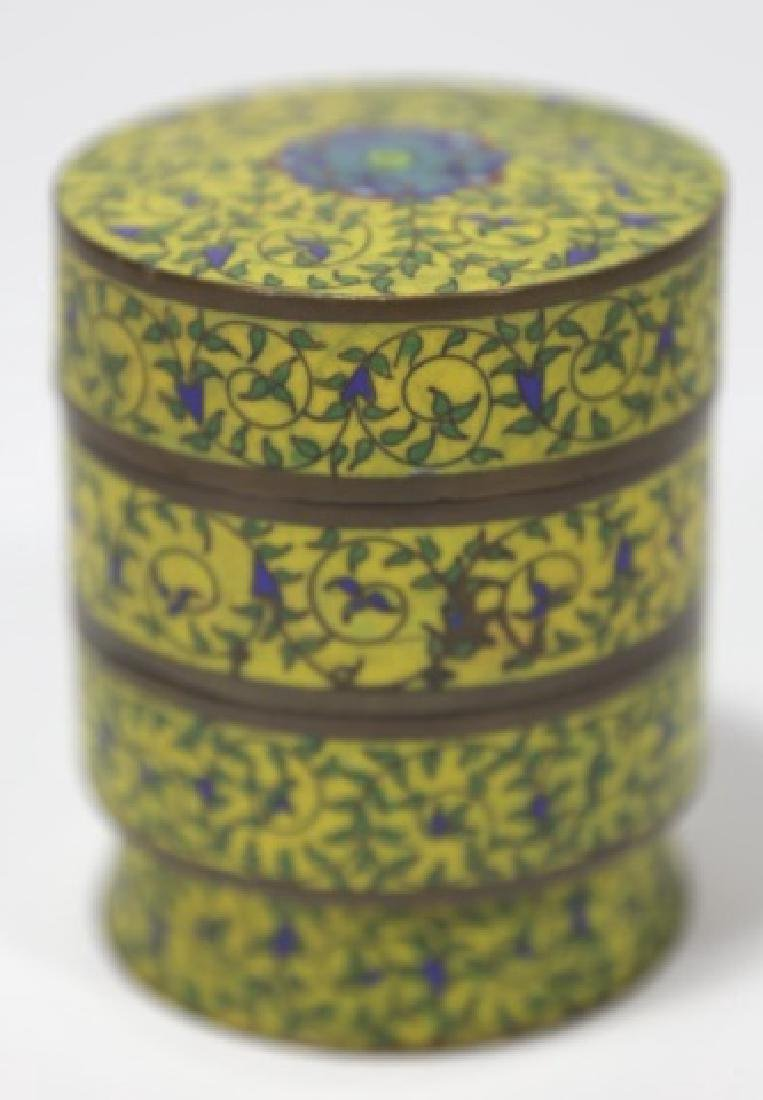 CHINESE ANTIQUE CLOISONNE - 3