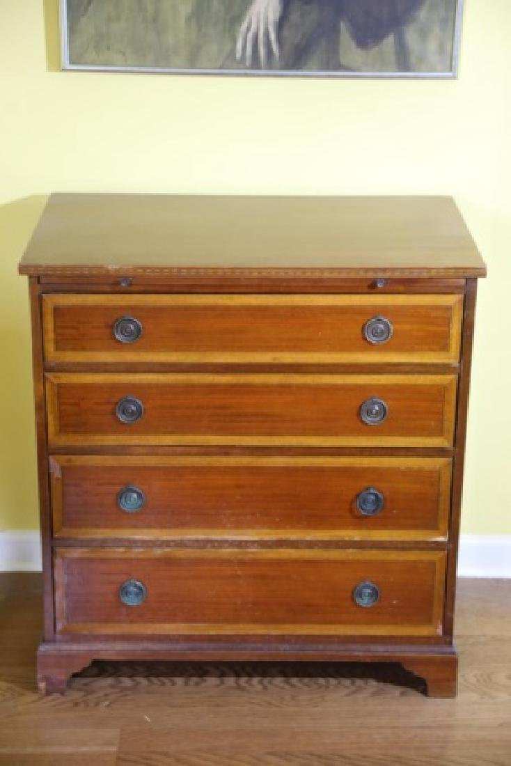 AMERICAN MAHOGANY / SATINWOOD BACHELERS CHEST - 2