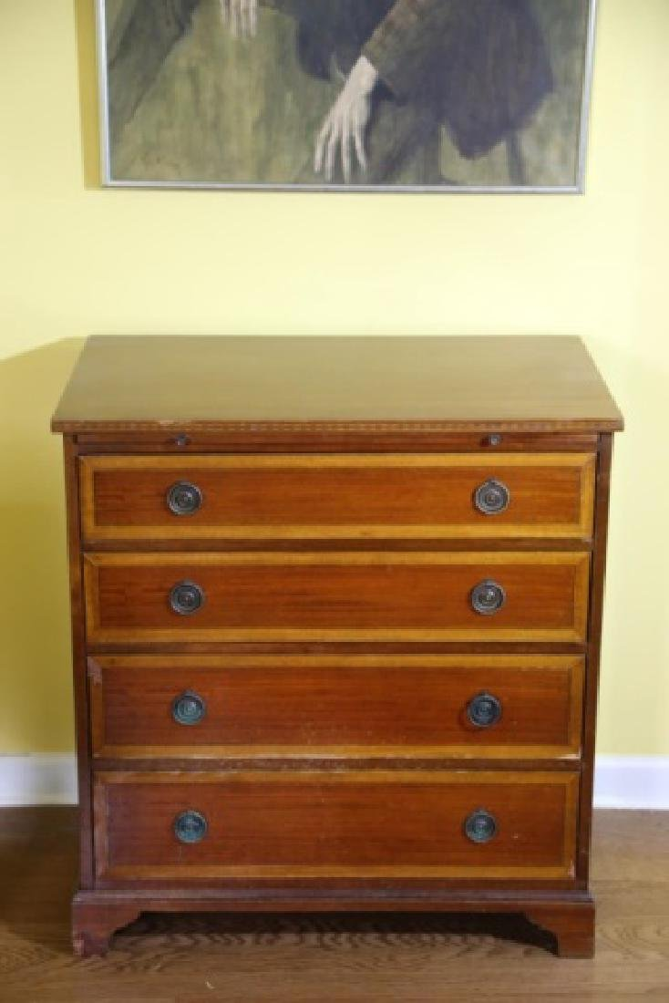 AMERICAN MAHOGANY / SATINWOOD BACHELERS CHEST - 5