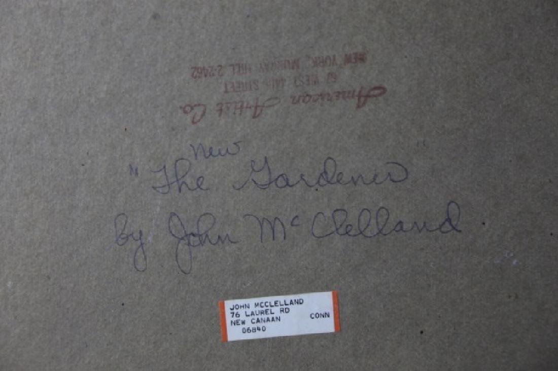 "JOHN McCLELLAND (AMERICAN 1919-2016)""THE GARDENER"" - 8"