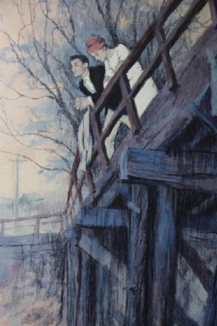"""JOHN McCLELLAND (AMERICAN, 1919-2016) """"THE BRIDGE"""" - 4"""
