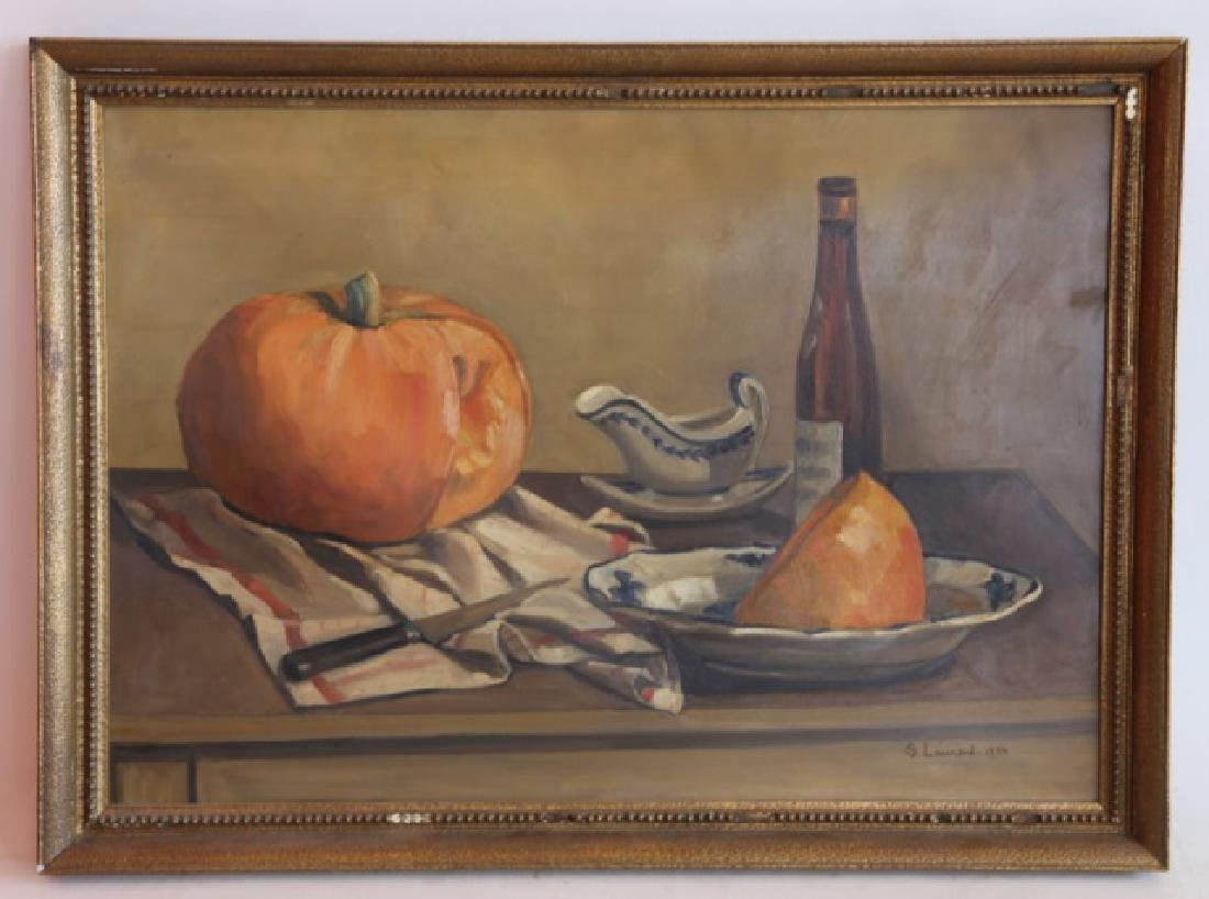 S. LAURENT (FRENCH 1934) STILL LIFE OIL ON CANVAS
