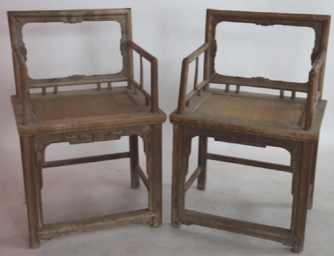 CHINESE PAIR ANTIQUE CHAIRS