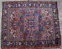 PERSIAN SEMI-ANTIQUE HAND WOVEN AREA CARPET