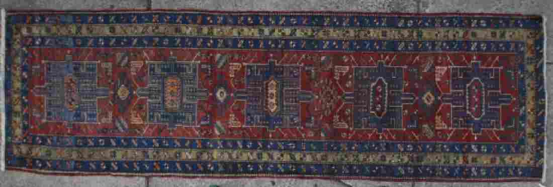 PERSIAN ANTIQUE HAND WOVEN AREA RUNNER