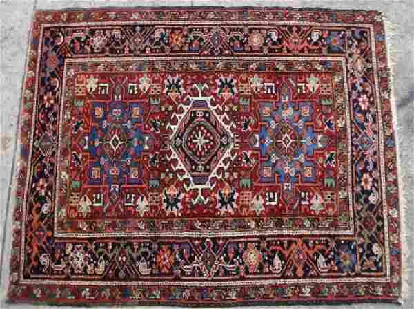 PERSIAN ANTIQUE HAMADAN HAND WOVEN AREA CARPET