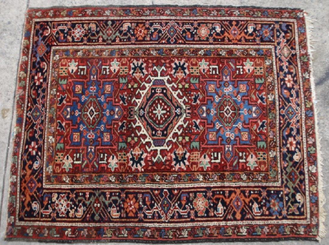 PERSIAN ANTIQUE HAMADAN HAND WOVEN AREA CARPET