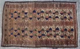 PERSIAN TURKOMAN ANTIQUE HAND WOVEN AREA CARPET