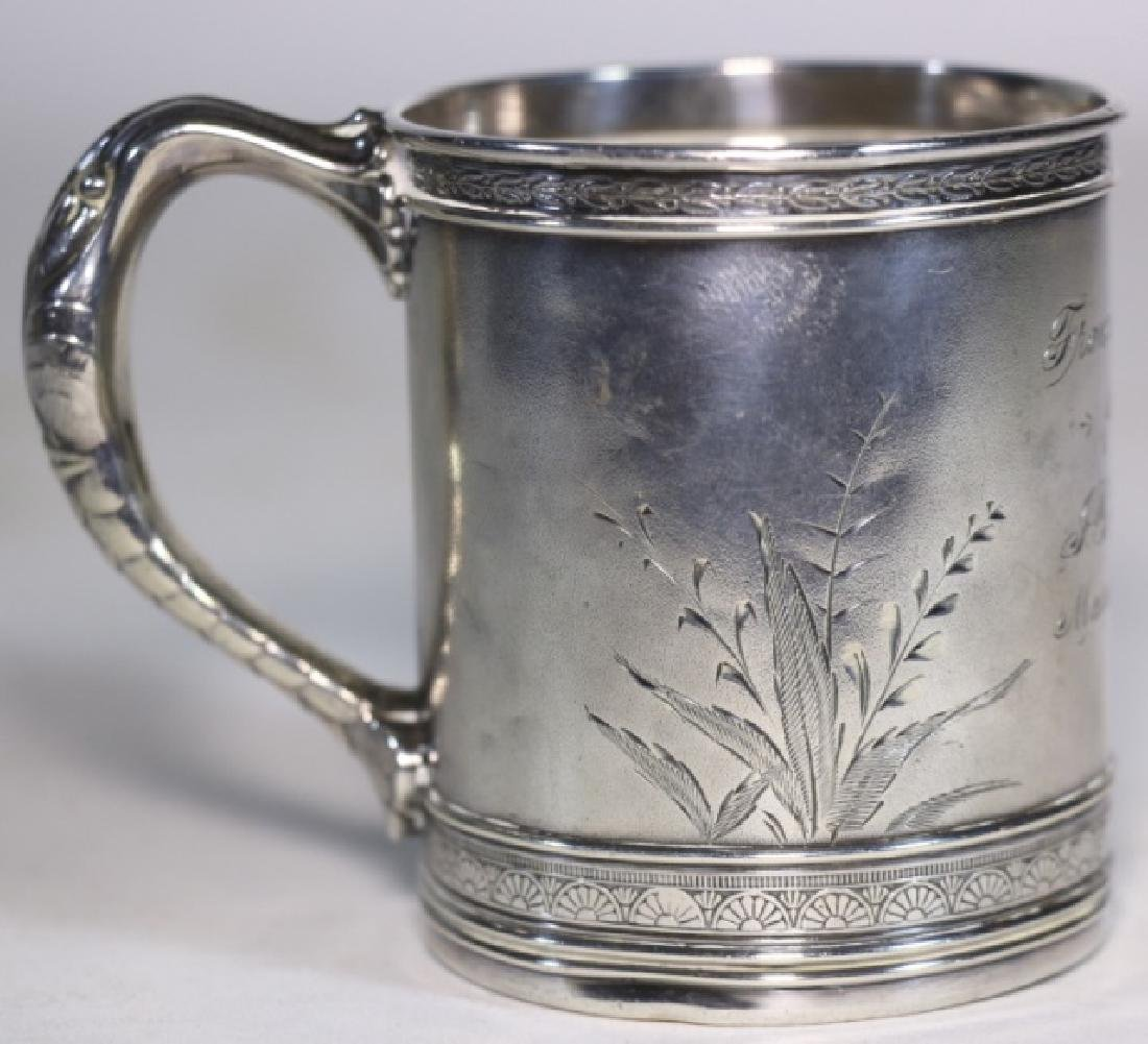 STERLING SILVER 1896  ANTIQUE GORHAM LIBATION CUP - 2